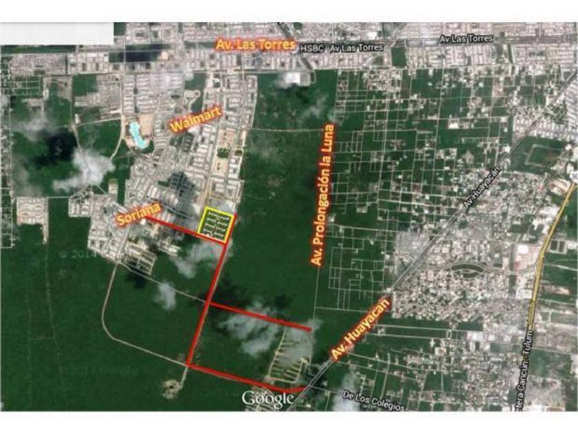 Lote de Terreno en Venta Paseo De La Selva, Cancún, Quintana Roo