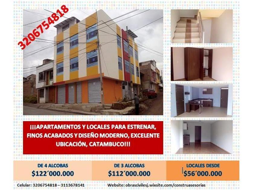 Apartamento en Venta Cll 8 Nro.  4-178, Catambuco Centro, Pasto
