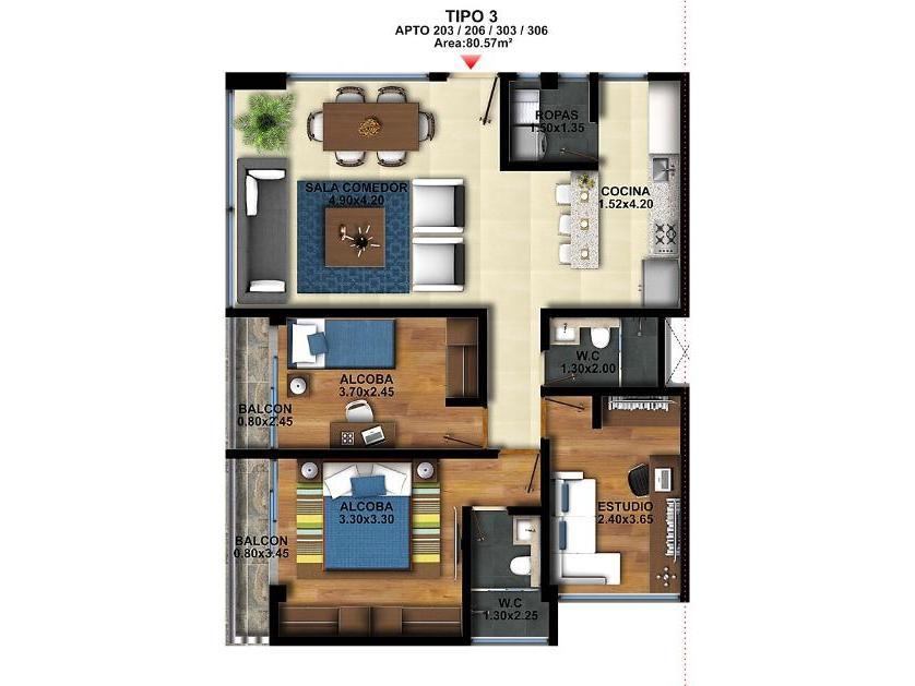 Apartamento en Venta Calle 2 No. 7 - 47, Tenjo, Cundinamarca